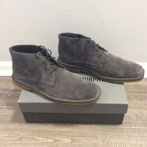 NIB Johnston & Murphy Dark Gray Suede Chukka Boots